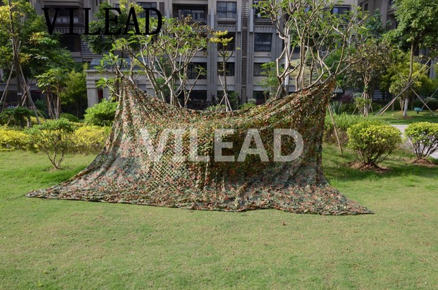 VILEAD 2M x 6M (6.5FT x 19.5FT) Woodland Digital Camo Netting Military Army Camouflage Net Sun Shelter for Hunting Camping Tent