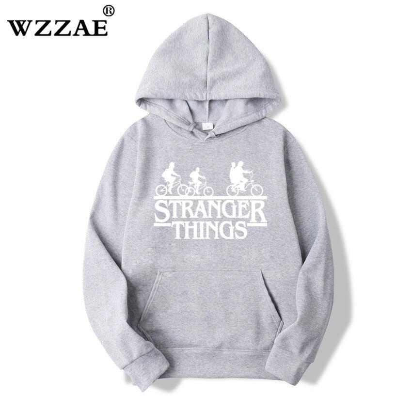 Trendy Faces Stranger Things Hooded Hoodies and Sweatshirts 44