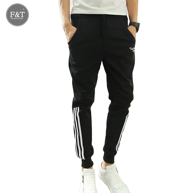 TOP HERE Fashion  2016 New Sweatpants Harem Pants Men Joggers Slim Fit Skinny Men's Hip Hop Swag Clothes High Street Gray Black