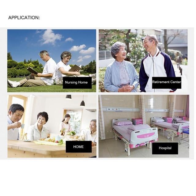 2pcs Tasto di Panico RF 433mhz Orologio di Allarme di SOS Braccialetto Pulsante Di Emergenza per Gli Anziani Anziani di GSM di Sicurezza Domestica sistema di allarme