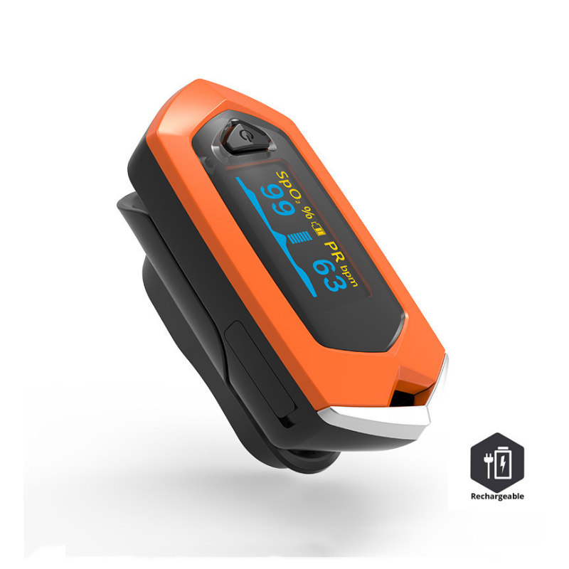 Fingertip Pulse Oximeter Carrying Case and Lithium Battery for SpO2 and Pulse Rate Measurement 2