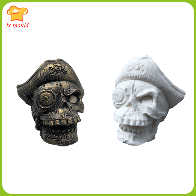 Pirate Captain Soap Mold Shantou Candle Mould Pirates of the Caribbean Diorama Silicone Mould