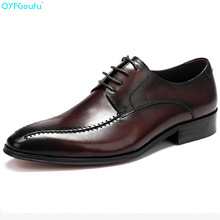 QYFCIOUFU Fashion Wedding Shoe For Men Brand Luxury Dress Shoes Genuine Leather High Quality Cow Handmade Mens
