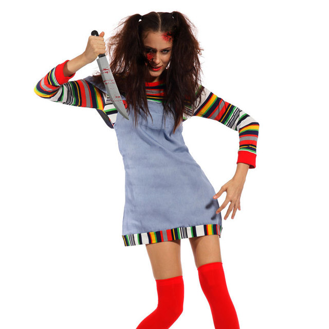 horror scary halloween costume fancy dress seed of chucky doll outfit