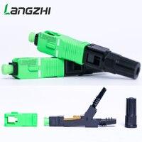 100PCS/box FTTH SC APC single mode fiber optic SC APC quick connector SC APC FTTH Fiber Optic Fast Connector fiber splicer