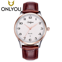 ONLYOU Lover Watches Top Brand Luxury Famous WristWatch Women Fashion Casual Wristwatch Men Simple Number Dial Quartz Clock Gift