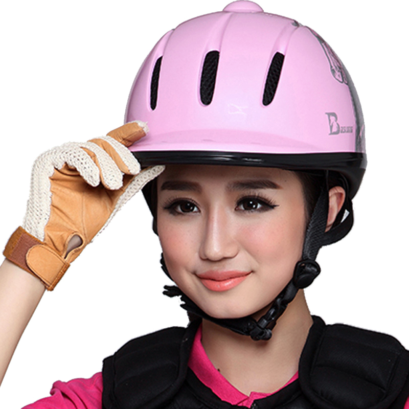 Child Equestrian Horse Riding Helmet Breathable Durable Safety Half Cover Horse Rider Helmets For Women Children 52-61 CM high quality helmets hard hat y class of chinese standards safety helmets breathable abs anti smashing hard hats
