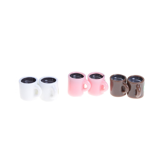 4Pcs Mini Cup For  For  Miniature Dollhouse Coffee Cup Kitchen Room Food Drink Home Tableware Decors HOT