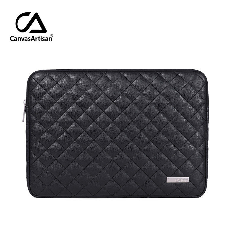 PU Leather Laptop Bags Sleeve <font><b>Case</b></font> for Macbook Lenovo HP DELL <font><b>Xiaomi</b></font> <font><b>Notebook</b></font> 13 14 <font><b>15</b></font> <font><b>15</b></font>.6 inch Cover Waterproof Zipper Bag image