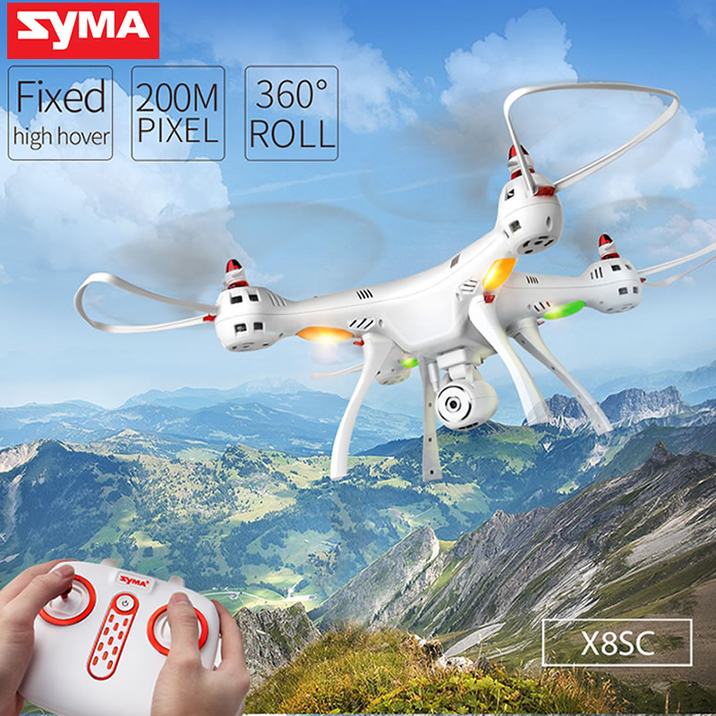 Original Syma X8SC RC Drone with Camera 2MP Air Press Altitude Hold/Headless Mode RC Quadcopter with LED Light RTF Dron Gift Toy jjrc h12wh wifi fpv with 2mp camera headless mode air press altitude hold rc quadcopter rtf 2 4ghz