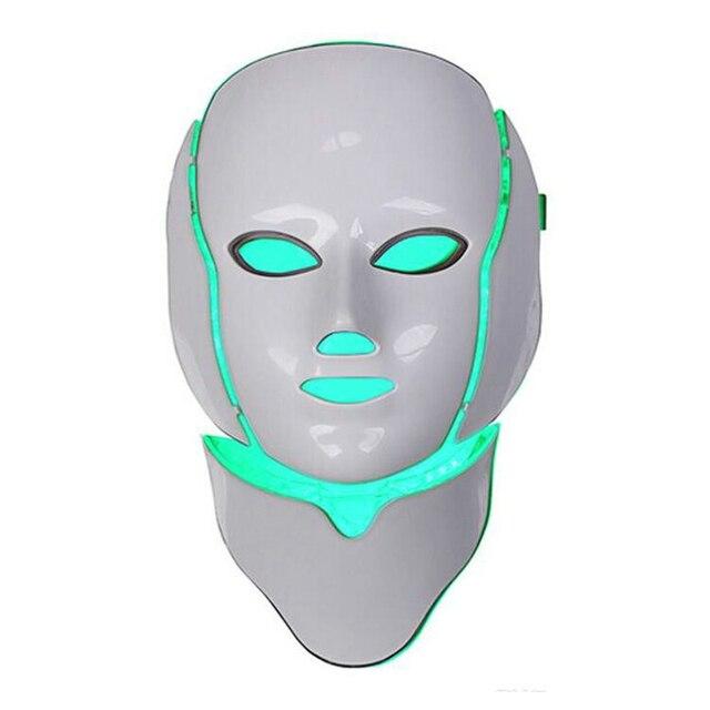 Korean LED Photodynamic Masks 7 Colors Lights LED Photodynamic Facial Mask Home Use Beauty Equipment Anti-acne Skin Rejuvenation 5