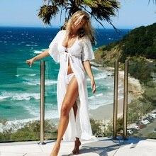 Robe Femme 2018 Hot Sale Beach Wear Long Lace Women Vestidos De Playa Top Summer Dress Super Deal Sexy
