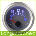 57mm 8-16V Blue Light Voltage Meter Gauge Digital Voltmeter For Auto Car