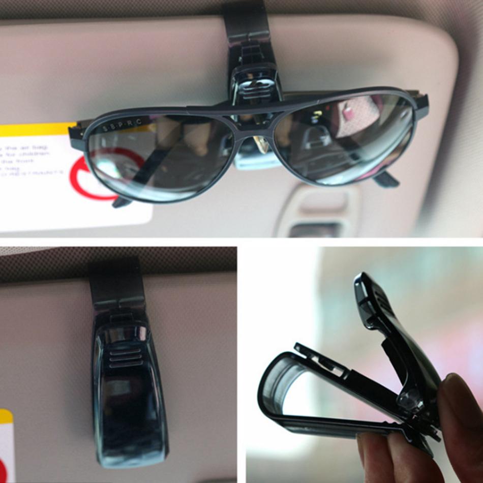 HTB17c8jXXzsK1Rjy1Xbq6xOaFXal - Hot Sale Auto Fastener Cip Auto Accessories ABS Car Vehicle Sun Visor Sunglasses Eyeglasses Glasses Holder Ticket Clip for cruze