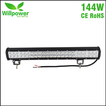 ENTREGA GRATUITA IP67 Impermeable 4×4 coche combo haz doble hilera 144 W 24 Pulgadas offroad Led Light Bar para JEEP