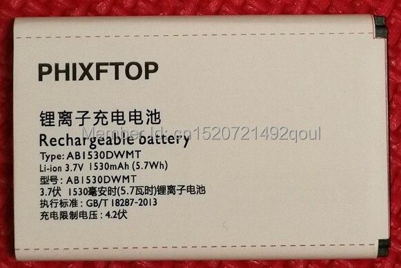 Phixftop original AB1530DWMC batería para XENIUM X331 E311 celular AB1530DWMT batería para Philips CTX331 CTE311 teléfono 4.2 V