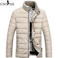 Elegantes Casacos de Inverno Homens Moda Outono Jaquetas Gola de Algodão Acolchoados Parkas Outwears Casuais Ao Ar Livre Tamanho Asiático Z2502