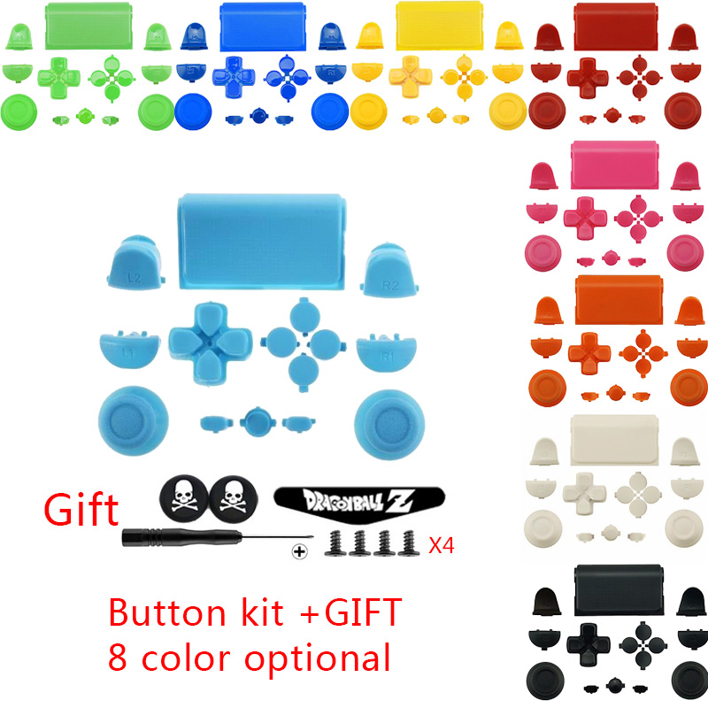 US $4 31 |Customized MOD Keys Kit PS4 Touch Pad Thumbsticks Joystick Cap D  pad Home Buttons Set + Gifts For PS4 DUALSHOCK4 Controller on