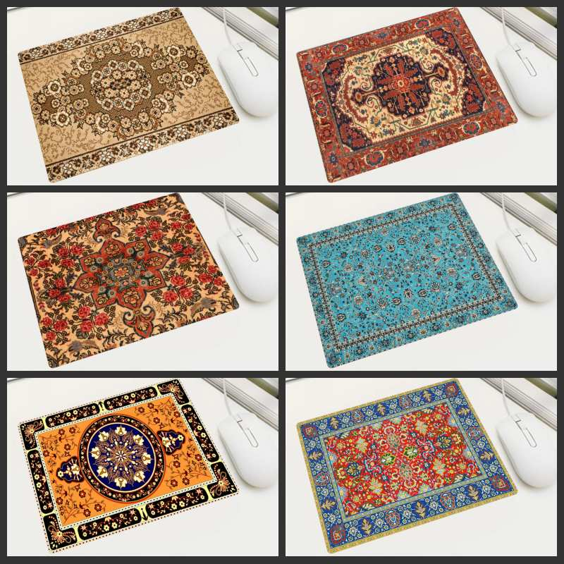 KULIAI Russia Japan Free Shipping Small Size Persian Carpet Pattern Mouse Pad Home Office Computer Player Game Notebook MousePad