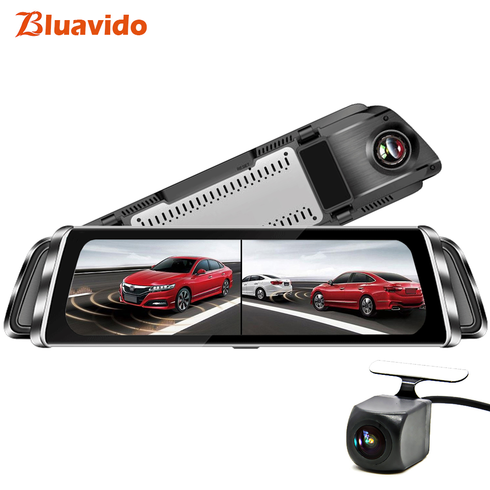 Full-screen intelligent rear-view mirror driving recorder navigation integrated