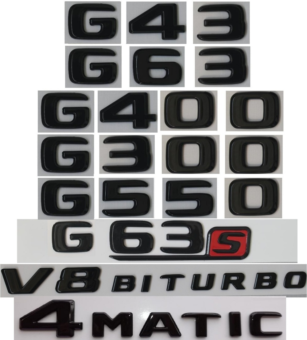 G800 Trunk Letter//Numbers Emblem Badge for Mercedes-Benz G-class