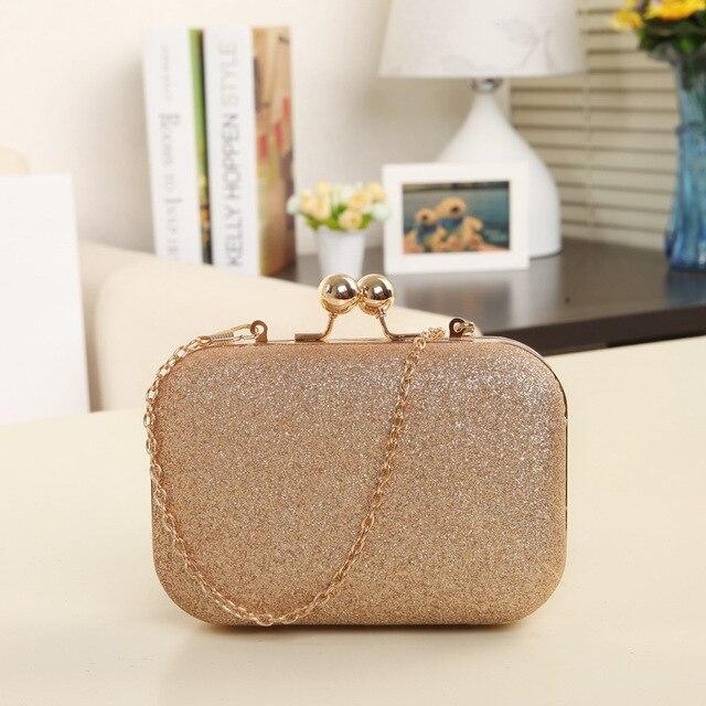 2017 Whole Fashion Women Sequins Party Banquet Bag Luxury Chain Handbags Bags Designer Gold Clutch