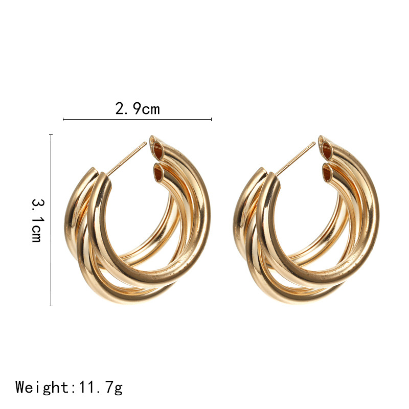 CHENFAN bohemian earring Mistress gift dangling cc earrings for women fashion jewelry Trendy golden silver bijouterie