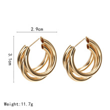 лучшая цена CHENFAN bohemian earring Mistress gift dangling cc earrings for women earring fashion jewelry Trendy golden silver bijouterie