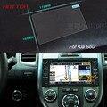 7 Pulgadas de Navegación GPS de Pantalla de Control de Pantalla LCD Película Protectora Para KIA soul Acero Styling Car Sticker