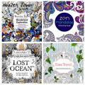 24 Páginas Estilos Mezclados Aliviar El Estrés para Los Niños Adultos de Mandalas Pintura Dibujo Jardín Secreto Matan Libros Para Colorear