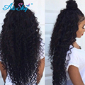 Перуанский странный вьющиеся 7а девственные волосы 3 пучки перуанский вьющиеся волосы переплетения 100% человеческих волос хороший вьющиеся крючком волосы