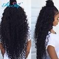 peruvian kinky curly 7A virgin hair 3 Bundles Peruvian curly Hair weave 100% Human Hair Extensions Nice curly crochet hair