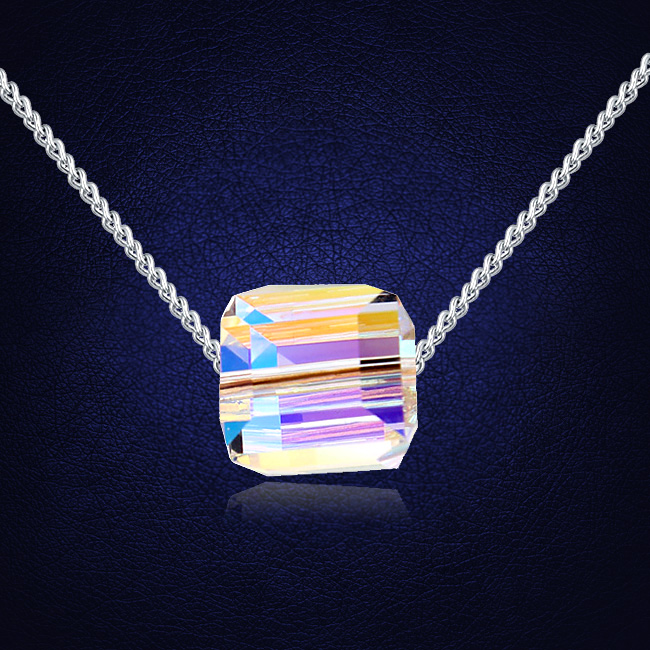 2017 Crystals From Swarovski Cube Pendant Necklace For Valentineu0027S Day Gift  Of Love In Pendant Necklaces From Jewelry U0026 Accessories On Aliexpress.com  ...