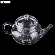 PREUP 250ml Durable Heat-Resisting Glass Crystal Teapot Coffee Water Scented Tea Warmer Candle Heater Base Metal Heat Conduction