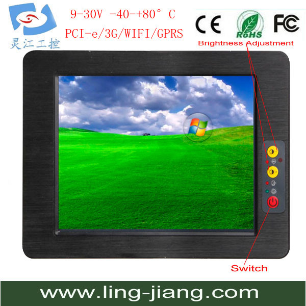 Fanless 10.4 inch all in one Rugged industrial tablet pc support windows 10 флоренция