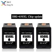 650XL Re-Manufactured   Ink Cartridge Replacement 3BK for HP 650 HP650 XL for Deskjet 1015 1515 2515 2545 2645 3515 4645 Printer free shipping 2016 [hisaint] 2pk 650xl bk color ink cartridges for hp deskjet 1015 1515 4645 ink jet printer hot sale