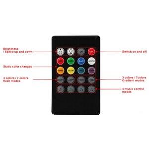 Image 2 - Capteur vocal musical, 20 touches, télécommande son, infrarouge, pratique pour fête à la maison, RGB 3528, 5050, LED, bande de lumière