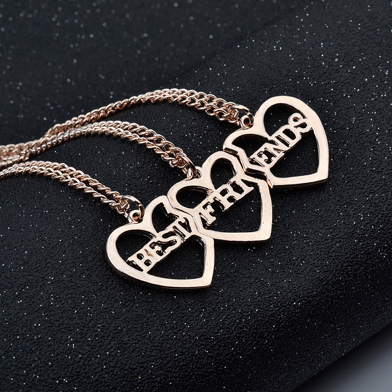 Brand Family Series 2018 New winter explosion models jewelry Apple BFF three sets of chain necklace