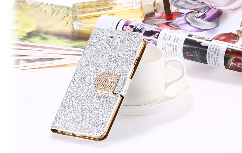 Dla iphone 6 6s plus 7 plus cover glitter bling kryształ diament skórzany portfel case do samsung galaxy s6 edge plus s7 edge torby 24