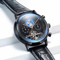 Schweiz Uhr Männer Luxus Marke Automatische Mechanische Männer Uhren Tourbillon Uhr relogio masculino Leucht Wasserdicht
