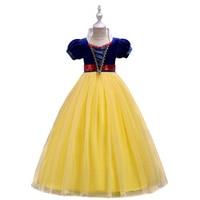 Cosplay Princess Costume Little Girls Long Dress Elegant Clothing Snow White Children Teenage Kids Performance Party and Wedding