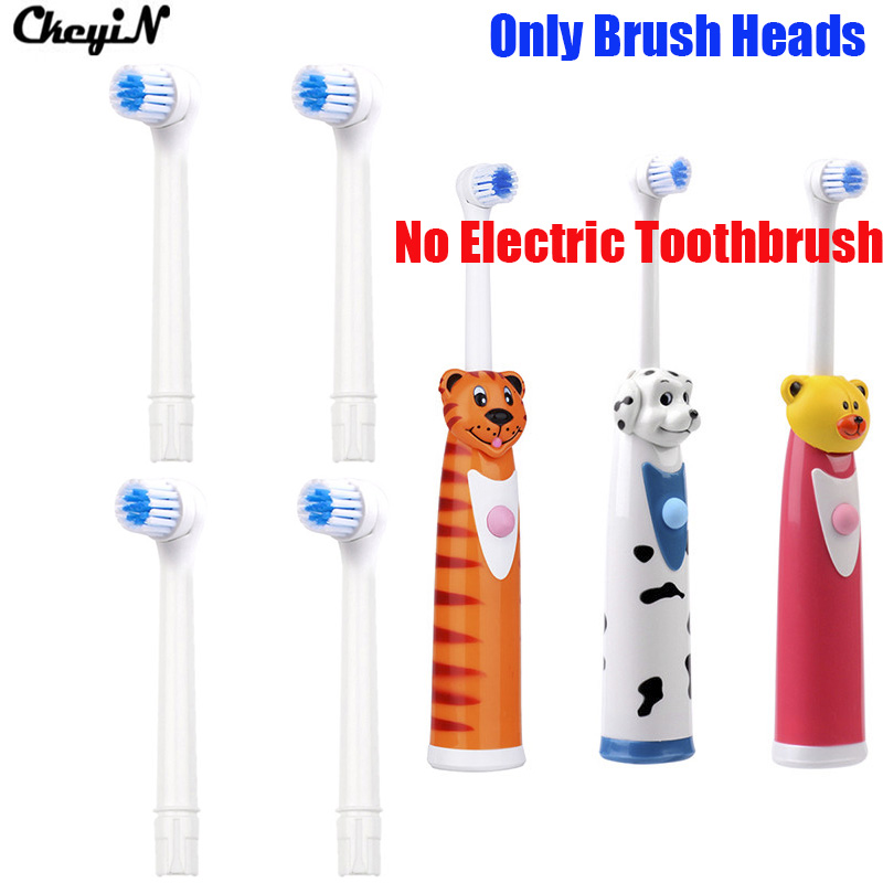 4pcs/lot Oral Hygiene Product Soft Bristles Replacement Teeth Brush Heads for Cartoon Handle Oral Cleaning Tongue Baby Gum Care