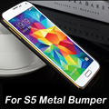 Luxo 0.7mm metal alumínio bumper para samsung galaxy s5 i9600 ultra caso fina capa SIV S 5 IV voltar casos shippng Livre