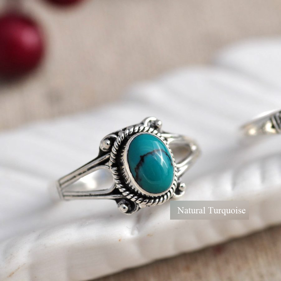 plain e made copper blue silver stone p stunning sterling turquoise company rings