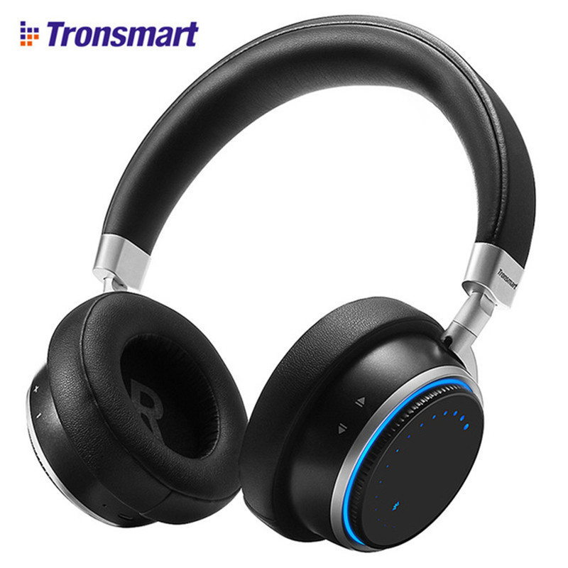 цена на Tronsmart Arc Wireless Bluetooth Headphones With Superior Sound Quality Blue Ring Lights Intuitive Control Headset Earphone