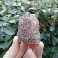 Crystal Quartz Wand Rutilated Crystal Quartz Point Tourmaline Rutilated Quartz Point Polished Chakra Quartz Point Reiki
