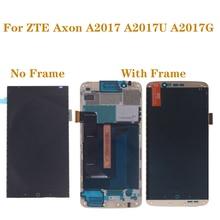 Original com moldura amoled tela para zte axon 7 a2017 a2017u a2017g lcd + touch screen digitador oled display peças de reparo