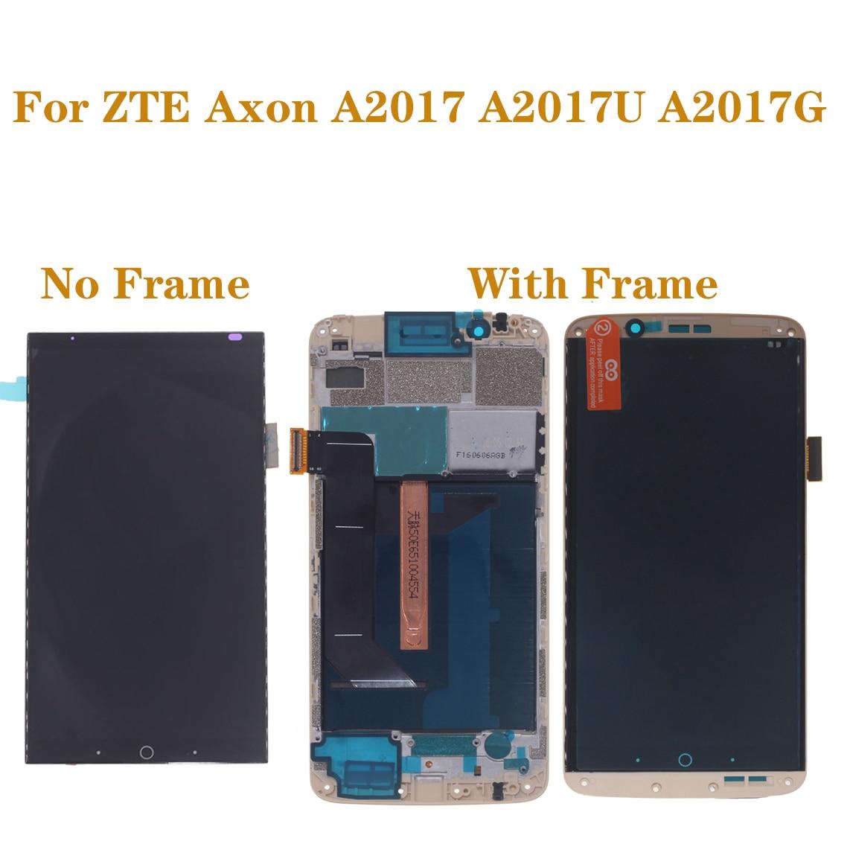 Tela AMOLED original com quadro para ZTE Axônio 7 A2017 A2017U A2017G reparação display LCD + digitador da tela de toque oled partes