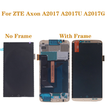 original with frame AMOLED screen for ZTE Axon 7 A2017 A2017U A2017G LCD+touch screen digitizer oled display repair parts