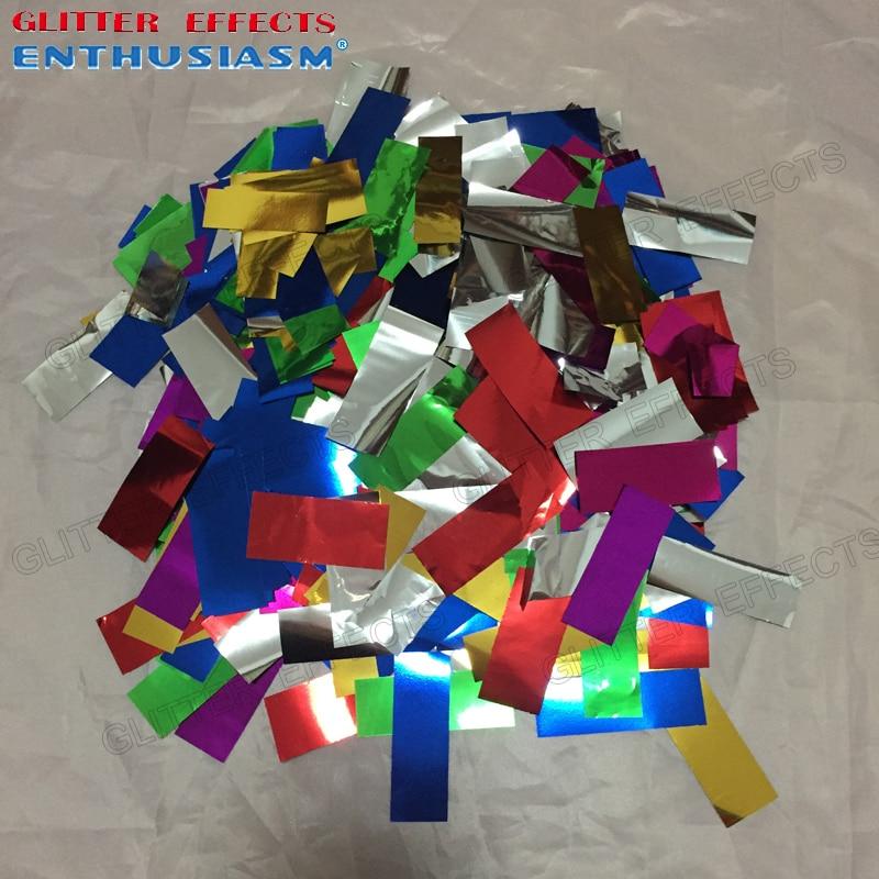 Квадратная форма многоцветная металлическая алюминиевая конфетти бумага для сценической свадебной вечеринки